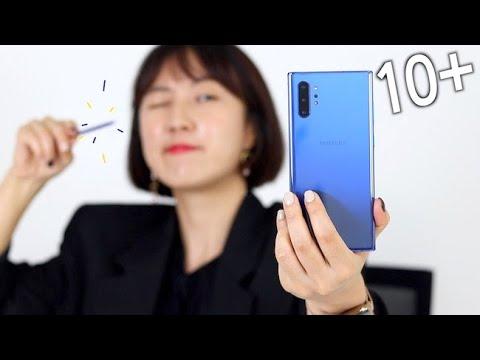 갤럭시 노트 10+ 아우라블루 I 애플빠가 가장 갖고 싶을만한 기능 Top3