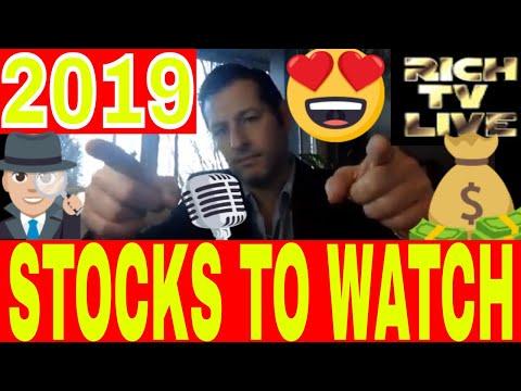 Stocks to Watch - RICH TV LIVE - Monday January 7, 2019