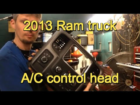 2013 Dodge Ram a/c control head - YouTube