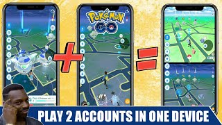 How to play 2 Pokemon go accounts in one device at a same time. Trade Yourself