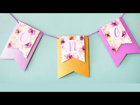 Cute first birthday party banner
