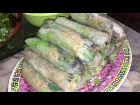 How to make spring rolls namkeesy Lao Food Home Made By Kaysone