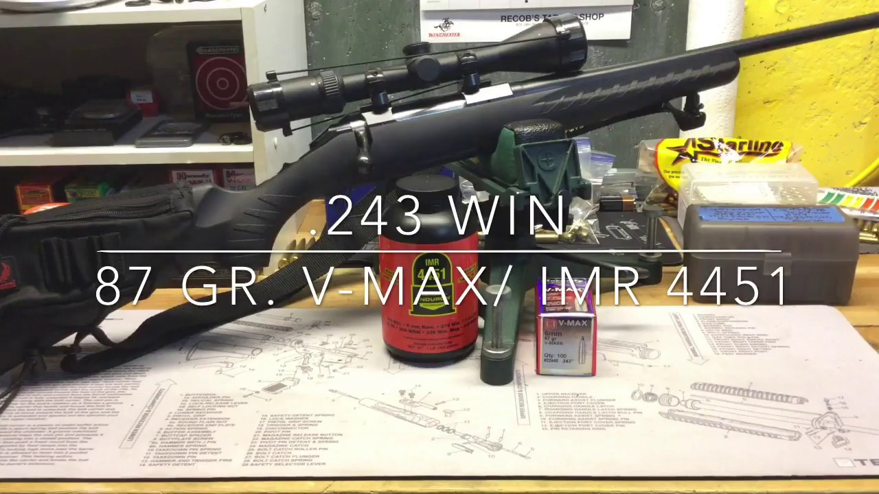 243 Win Reloading - 87 gr  V-max and IMR 4451