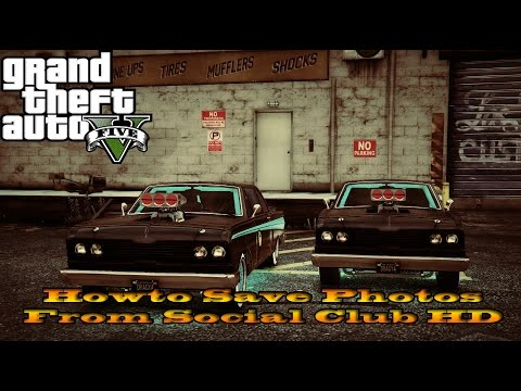 GTA 5 - Howto take and save photos from social club