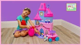 Big Little People Disney Princess Castle Toys w/ Magical Light-up Wand & Pink Egg Surprise!