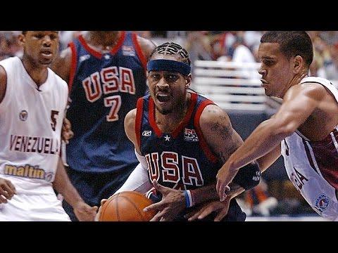 USA vs Venezuela 2003 FIBA Americas Tournament Basketball Group Game