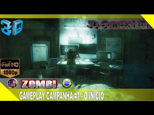 3D Zombi Gameplay Campaign #1 - The Beginning | 1080p Half-SBS