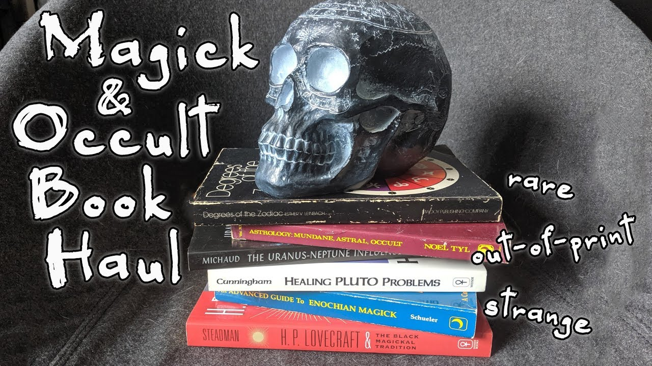 Magic and Occult Book Haul! Rare, Out-of-Print, WEIRD used witchy books!