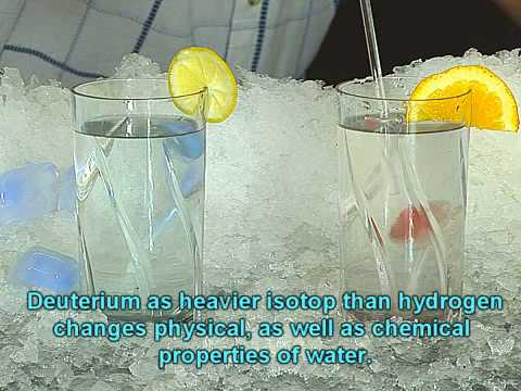 Isotopic effect of heavy water