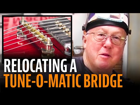 Relocating a Tune-O-Matic bridge