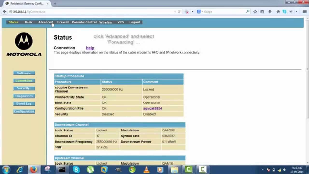 Port Forwarding Motorola 7deff Youtube