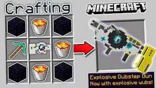 CRAFTING DUBSTEP GUNS IN MINECRAFT | Minecraft Mods