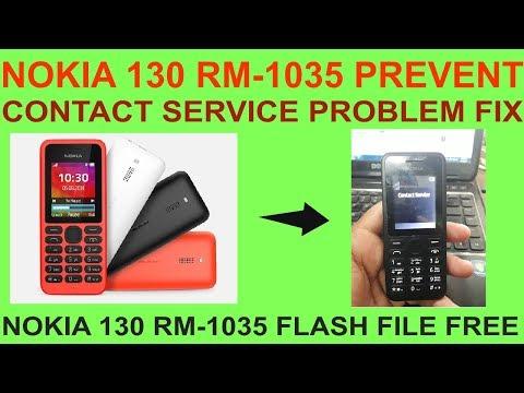 NOKIA 130 RM-1035 PREVENT CONTACT SERVICE PROBLEM FIX