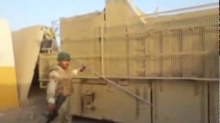 Isis trying to break into the Baiji refinery using a local truck armored plating, but the Iraqi army