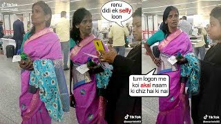 Ranu Mondal's Unbelvable SH0K!NG APPR0ACH Towards A FAN requesting For A Photo @Airport