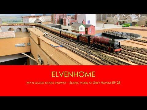 N Gauge Model Railway Scenery Work at Grey Havens - Elvenhome Ep28