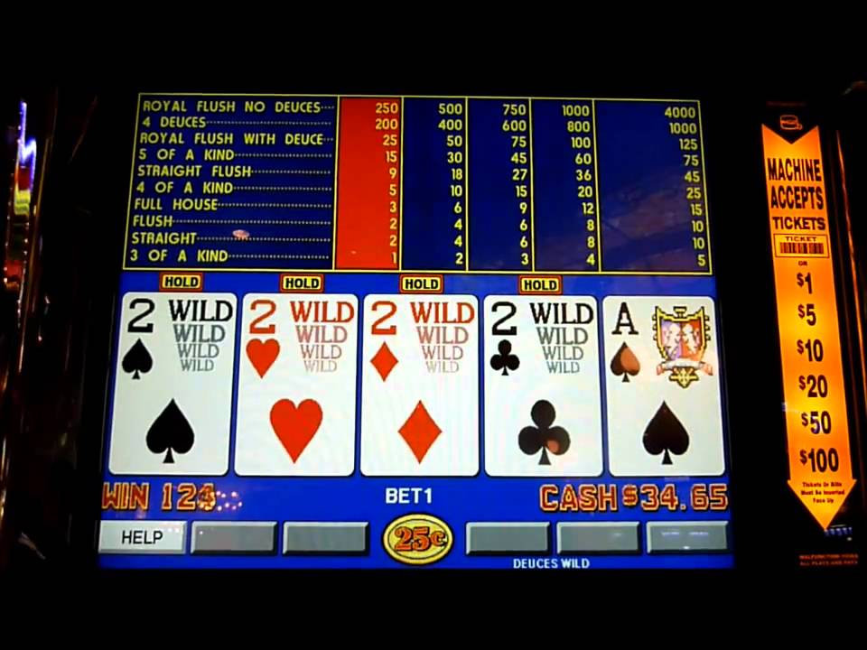 how to play deuces wild on a slot machine