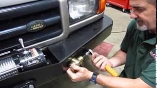 Install Swivel Recovery Point Shackles On A Heavy Duty Steel Bumper For Land Rover Discovery or Range Rover P38 video screen shot