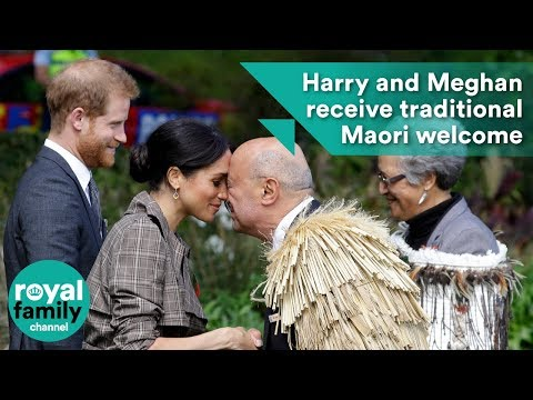 Prince Harry and Meghan receive traditional Maori welcome to New Zealand