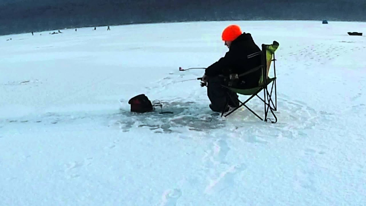 Ice fishing sayer 39 s dam at bald eagle state park pa 01 for Pa ice fishing