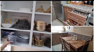 ترتيب وتنظيم المطبخ 🍀 تنظيم خزانات المطبخ ✨✨ شكل مطبخي الجديد بدون تكاليف 🔝 فرن جديد كل مميزاته