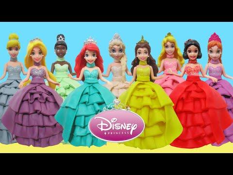 Play Doh Dresses 9 Disney Princesses Magic Clip Elsa Anna Ariel