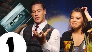 """What's that?!"" Hailee Steinfeld gets a lesson in 1980s Mixtapes from John Cena for Bumblebee"