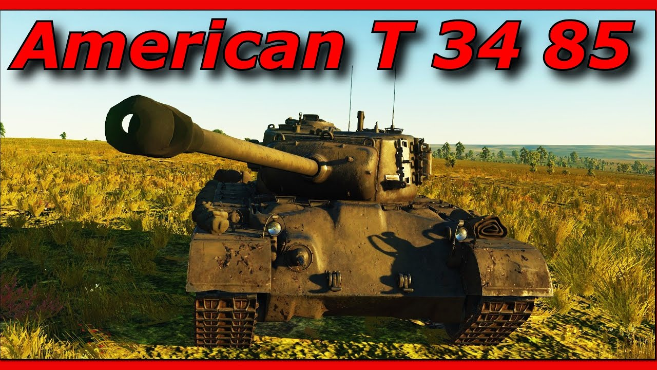War Thunder || M 26 Tank Review - A true american T 34 85 ...