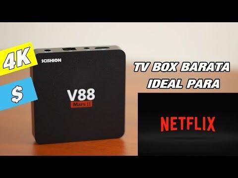 Tv Box V88 mars ll Ideal para Netflix televisión y películas gratis
