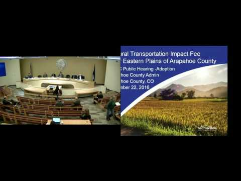 Arapahoe County Commissioner Public Meetings 11-22-2016