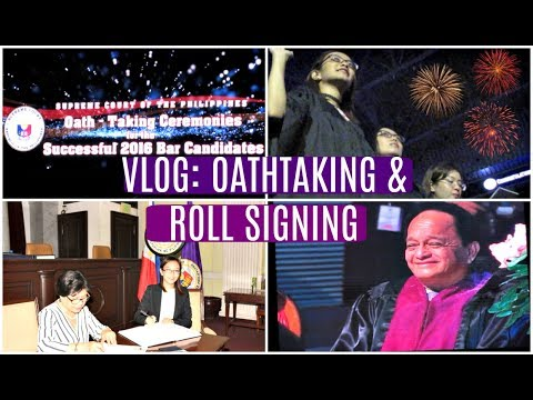 VLOG New Lawyers' Oathtaking & Roll Signing | Isai Rivera