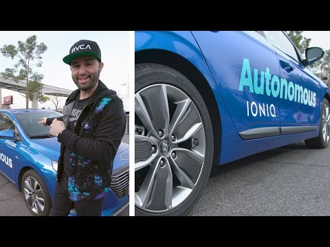 My first autonomous car test drive… 😱 (CES 2017)