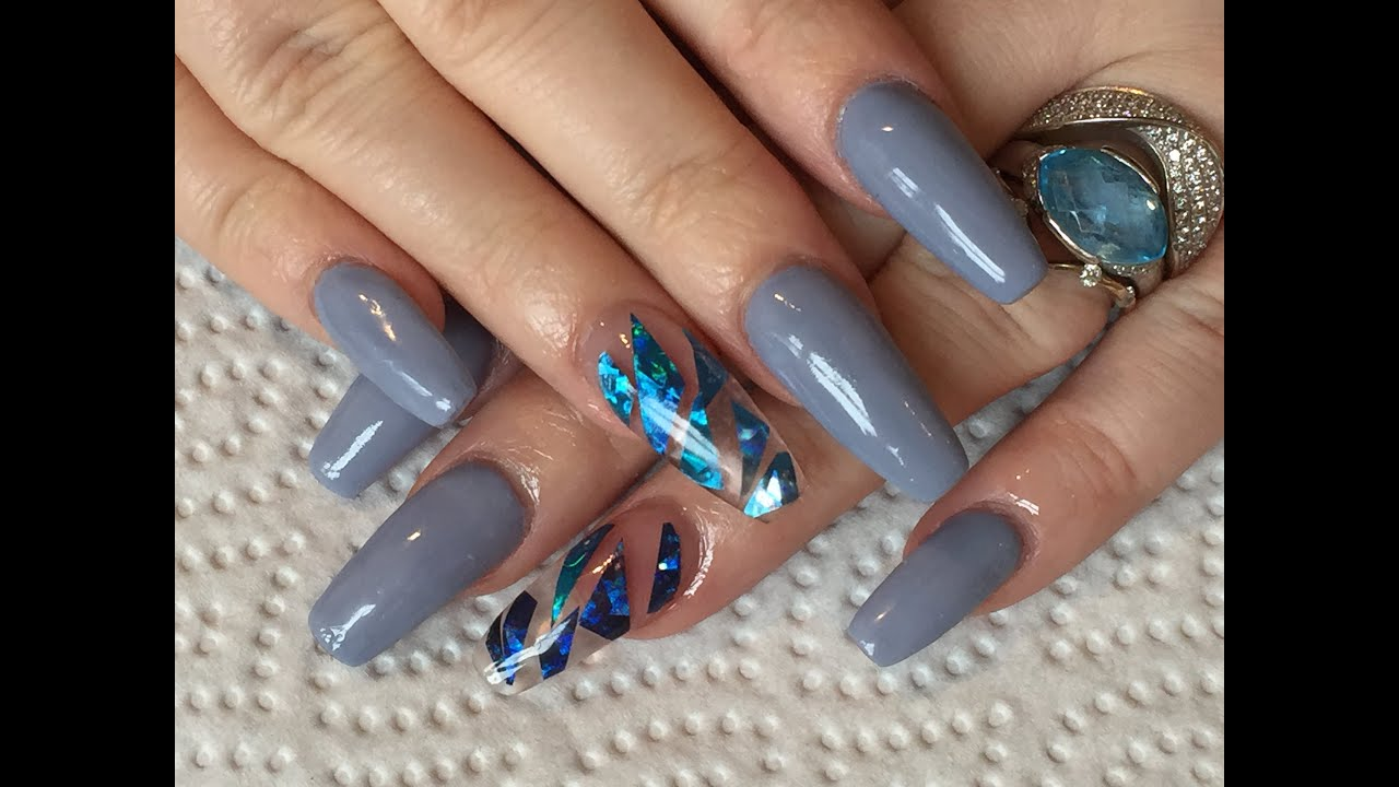Acrylic Nails Sculpted square how-to and bornpretty review - YouTube