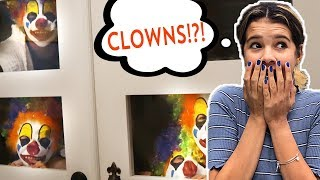 CLOWNS BREAK INTO our HOUSE!   FIRST to figure out WHO They are WINs!
