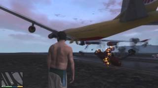 GTA V - Passenger jet take-off sabotage