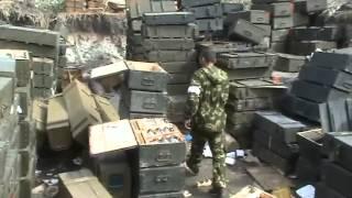 Склад боеприпасов, оставленный доблестной армией укропов