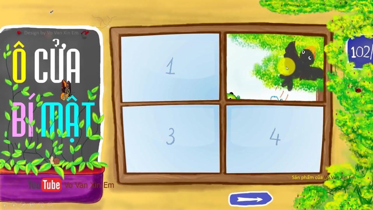 Trò chơi PowerPoint Ô cửa bí mật quá đẹp   Tải về miễn phí   TRỢ GIẢNG