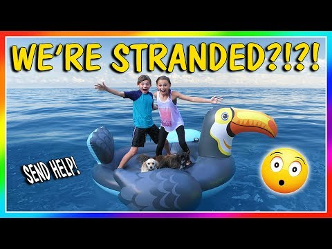 STRANDED ON A FLOATY! | CAN THE PUPPIES SWIM TO SAFETY? | We