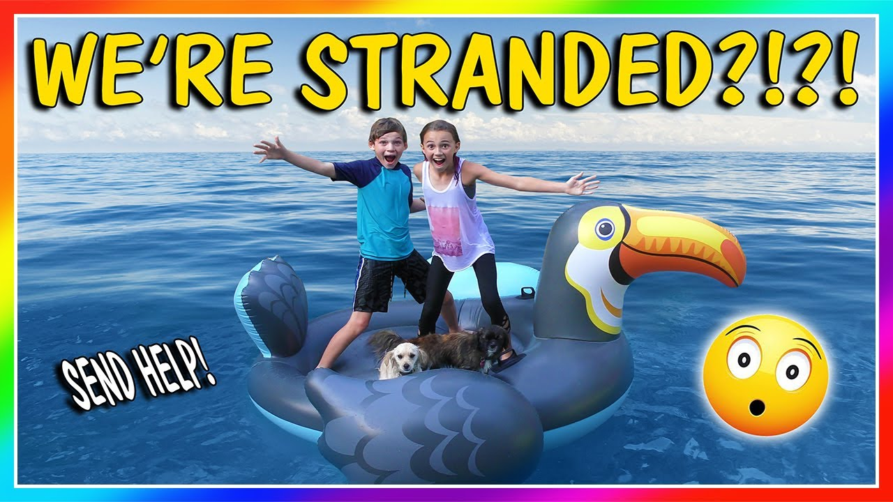 STRANDED ON A FLOATY! | CAN THE PUPPIES SWIM TO SAFETY? | We Are The Davises