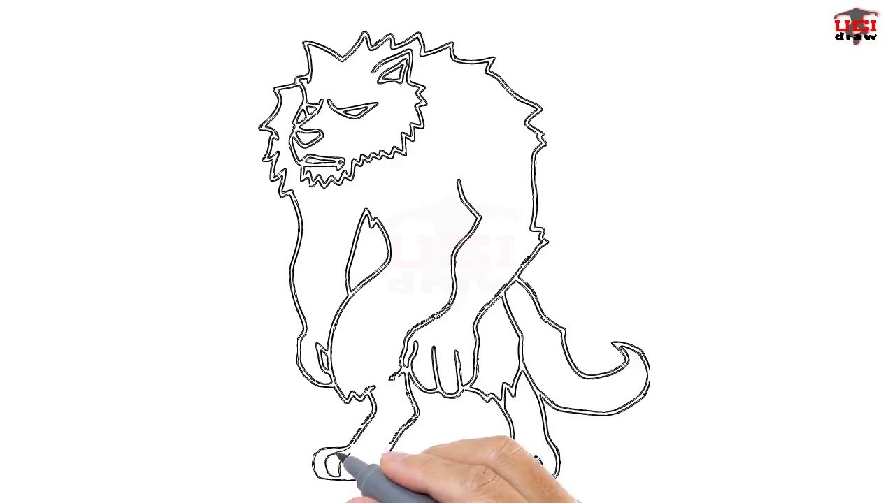Uncategorized How To Draw A Werewolf Step By Step how to draw a werewolf easy step by drawing tutorials for kids ucidraw