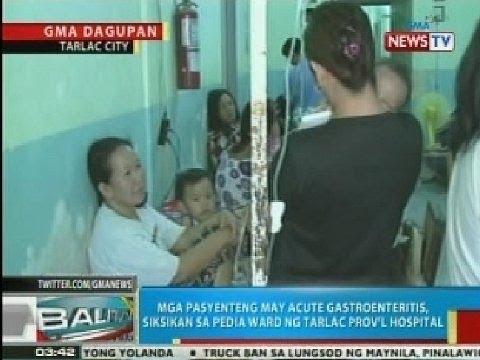 Mga pasyenteng may acute gastroenteritis, siksikan sa pedia ward ng Tarlac Prov
