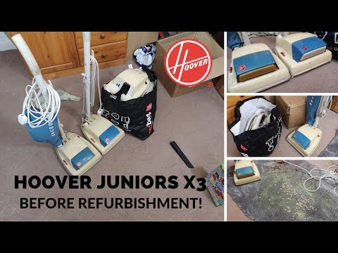 A trio of Hoover! Hoover Dirtsearcher Juniors - Before Refurbishment!