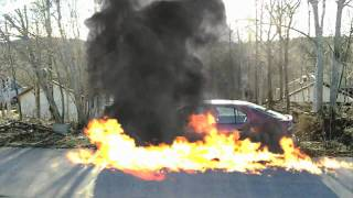 Our car goes BOOM!