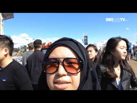 Jalan - Jalan ke Santa Monica Pier in Los Angeles - SBO Web TV Goes To USA