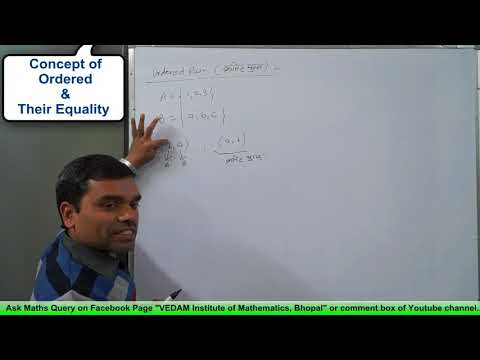 Relation - Concept of Ordered Pair & its Equality in hindi(Lecture 1)