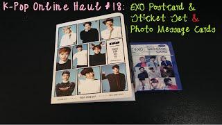 K-POP ONLINE HAUL #18: EXO Postcards/Stickers Set & Message Cards Video