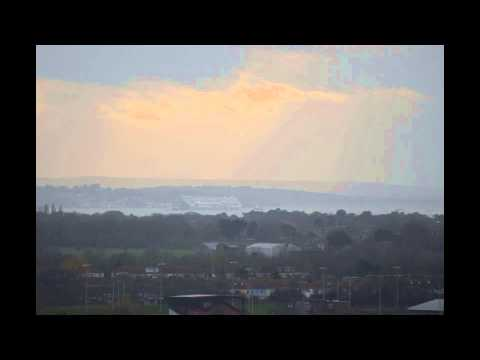 Hoegh Osaka Time Lapse as it moves off Bramble Bank
