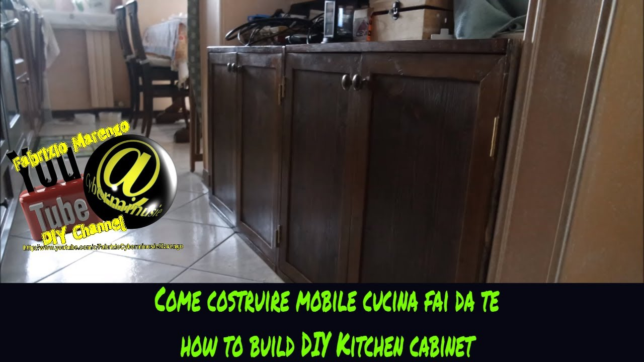 Tutorial Costruzione Mobile cucina in legno fai da te (How to build DIY  wooden kitchen cabinet)