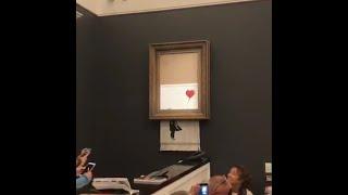 Картина Бэнкси самоуничтожилась сразу после продажи на Sotheby