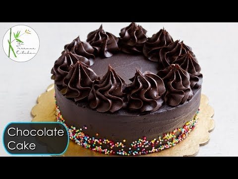 Eggless Chocolate Cake without Oven | Moist & Rich Chocolate Ganache Cake ~ The Terrace Kitchen